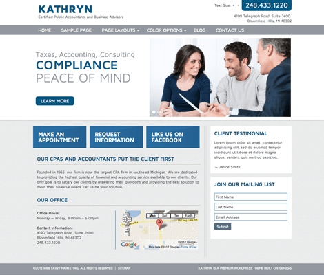 Kathryn | WordPress Accounting Theme for CPA and Accountants
