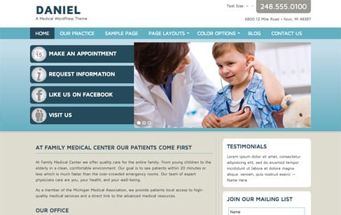 Daniel: A Medical WordPress Theme
