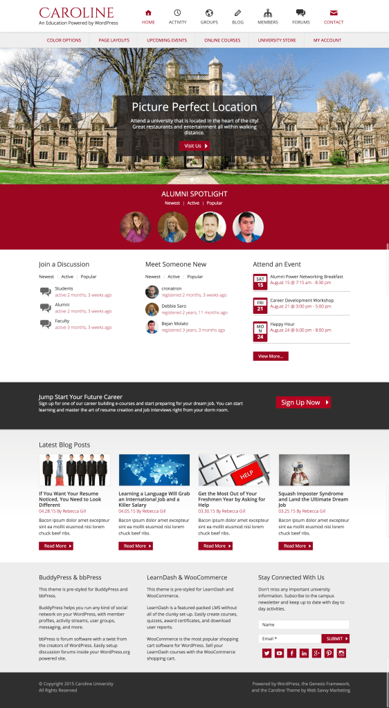 Caroline WordPress University Theme